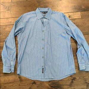 Men's blue tailored fit Large dress shirt!
